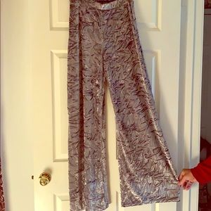 Crushed velvet wide leg pants and matching top!